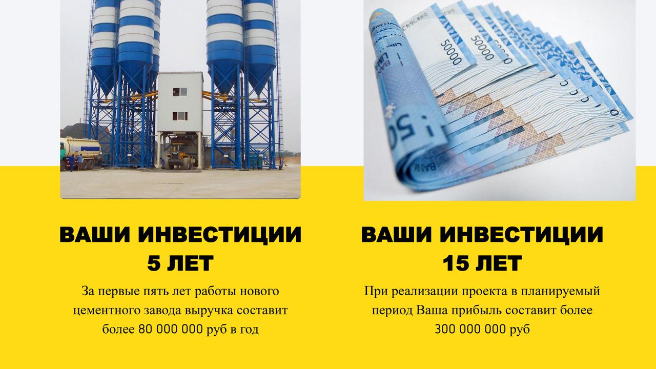 Презентация цементного завода срок инвестиций